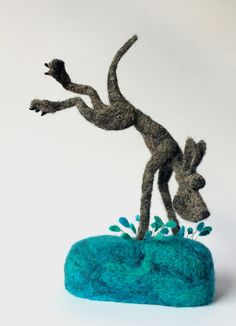 Felt dog sculpture by mikaelabartlettfelt on Etsy