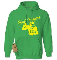 Hail Rodgers Football Quarterback Adult Hoodie Sweatshirt