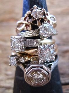 Add some sparkle to your New Year's with lovely vintage rings