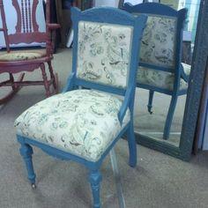 Custom Made Victorian Eastlake Chair Upholstered Reupholstered Upholstery