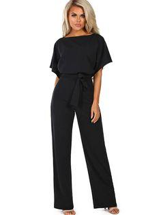 Wholesale Jumpsuits & Rompers, Cheap Black Oh So Glam Belted Wide Leg Jumpsuit Online Black Jumpsuit Outfit, Jumpsuit Dressy, Dressy Pants, Jumpsuit With Sleeves, Pant Romper Outfit, Summer Jumpsuit, Jumpsuit Shorts, White Jumpsuit, Jumper Outfit Jumpsuits
