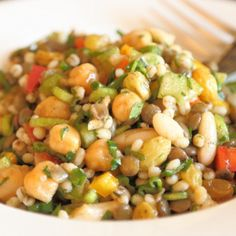 Mouth-watering sweet three bean salad with a hint of cinnamon and honey.