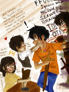 Nico and Percy time traveling. <---- lol y do i love this so much?