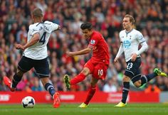 Coutinho...oh oh oh oh oh. The Braziliant @Phil_Coutinho scores #LFC's 3rd goal today against #THFC. Classy finish.