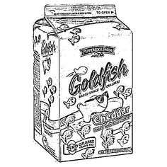 Goldfish Cracker Coloring Sheet | Touchstone | Coloring ...