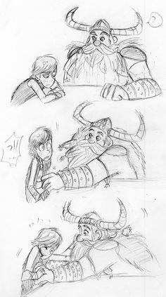 No, Dad! Vikings aren't ticklish!! by ~shadowpiratemonkey7 on deviantART