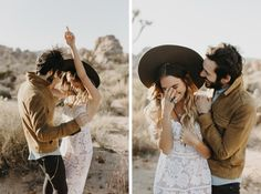 Joshua Tree Engagement Photos // Casey, aka Officially Quigley, her fiancé Alex and I woke up at to catch sunrise over the desert. Engagement Outfits, Engagement Couple, Engagement Shoots, Vintage Engagement Photos, Engagement Ideas, Couple Photography, Engagement Photography, Wedding Photography, Photography Tools