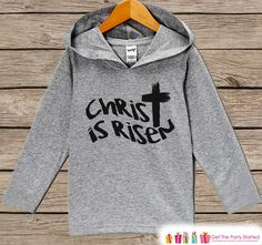 Now available on our store: Kids Easter Outfi.... Check it out here! http://7ate9apparel.com/products/kids-easter-outfit-easter-christ-is-risen-hoodie-easter-spring-pullover-baby-boy-or-girl-easter-outfit-kids-religious-toddler-hoodie?utm_campaign=social_autopilot&utm_source=pin&utm_medium=pin