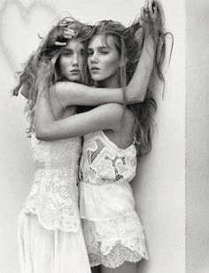 Cecilie & Amalie Moosgaard by Koto Bolofo for Numéro February 2016