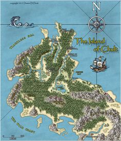 The Island of Chult Dnd World Map, Rpg World, Fantasy City Map, Forgotten Realms, Dungeon Maps, Book Writing Tips, City Maps, Medieval Fantasy, I Am Game