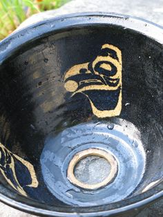 Pottery Raven Sink Basin wheel thrown by rikablue on Etsy, $199.00