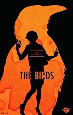The Birds Movie Poster Film Vintage Art Retro Print Alfred Hitchcock in Art, Posters, Contemporary Horror Movie Posters, Classic Movie Posters, Minimal Movie Posters, Cinema Posters, Minimal Poster, Horror Movies, Graphic Posters, Best Movie Posters, Art Posters