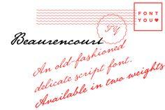 Beaurencourt FY-Regular by FONTYOU on Creative Market