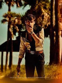 "Jon Kortajarena in ""Miami La Habana (Boarding Pass)"" by Giampaolo Sgura for GQ Spain's May 2016 Issue."