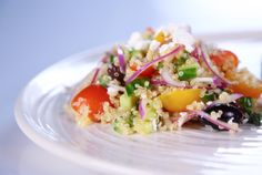 Try the Bulgur Salad with Roasted Peppers, Chickpeas and Pistachios ...