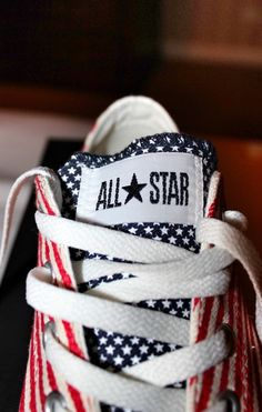 Converse All Star Sneakers - Another wow! Converse Sneakers, Canvas Sneakers, Converse All Star, Converse Fashion, Jeans Fashion, Baskets, Custom Converse, Red White Blue, Black
