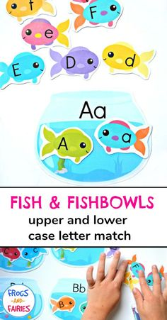 Getting ready to teach your little ones the alphabet? This adorable upper and lower case letter matching printable activity is a fun way to work on letter recognition with your kids! - Kids education and learning acts Teaching Letter Recognition, Teaching The Alphabet, Teaching Aids, Preschool Letters, Alphabet Activities, Kids Letters, Alphabet Letters, Preschool Learning Activities, Kids Learning