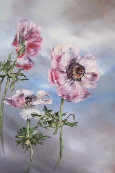 PEINTURE – Claire BASLER Flower Art Drawing, Painting & Drawing, Flower Artists, France Art, Art For Art Sake, Flower Images, Botanical Art, Floral Watercolor, Art Drawings