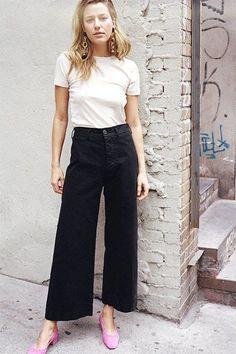 Minimal Street Style | Casual Elegance | Chic Cozy Blogger | Culotte