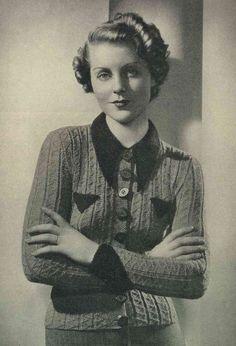 Stitchcraft Oct 1936, Art Deco handcrafts - Vintage Knitting Pattern booklet PDF