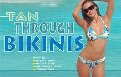 Tan through swim wear and clothes! So cool!