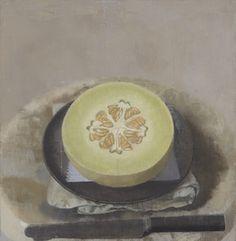 Susan Jane Walp, 'Melon Sliced Open on a Black Plate with Knife,' 2015, Tibor de Nagy