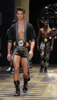 Versace Men Summer 2013 runway