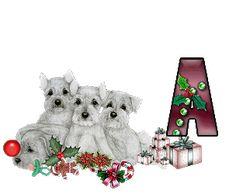 Alfabeto Navideño animado de perritos. | Oh my Alfabetos!