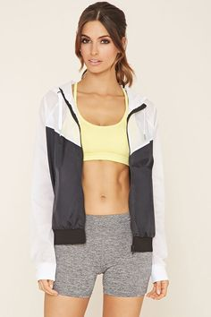 Active Colorblock Jacket   Forever 21 - 2000171447