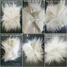 A tutorial on you how to make your own fur pom poms! Fur pom pomson garments are really on trend right now. I've seen them on almost everything from ponchos, handbags, scarves, and of course…