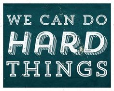 We Can Do Hard Things Vintage Wall Art Retro by ChrissyODesigns
