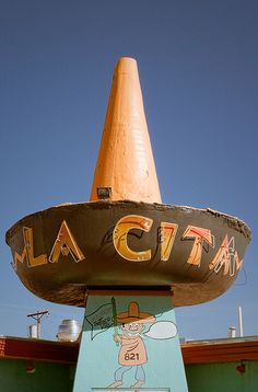 La Cita  Mexican Restaurant on Route 66 in Tucumcari, New Mexico. Photo credit by TooMuchFire on Flickr.