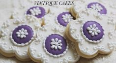 Vintage Style Violet Cookies   Cookie Connection