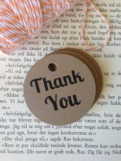 Circle Thank you Tags by StuckOnACloud on Etsy