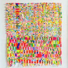 glitch (100 x 100cm) woven paper by Roderick MacNeill