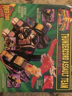 Vintage Mighty Morphin Power Rangers Thunderzord Assault Team-new in opened box! #Bandai