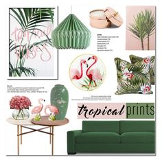 """Tropical Vibes!"" by helenevlacho on Polyvore featuring interior, interiors, interior design, home, home decor, interior decorating, Wild & Wolf and Pier 1 Imports"