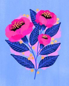 Artwork — Jess Phoenix The most beautiful picture for home decor grey , that suits your pleasure Sie suchen etwas und haben nicht das beste Ergebnis e Floral Illustrations, Illustration Art, Painting Inspiration, Art Inspo, Phoenix Artwork, Pattern Floral, Posca Art, Guache, Arte Popular