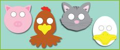 Little Red Hen role-play masks (free story resources)   Free EYFS / KS1 Resources for Teachers