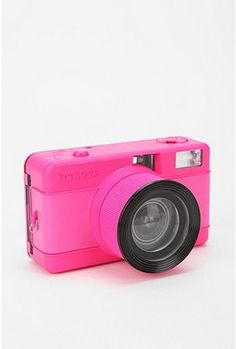 Urban Outfitters fisheye camera in neon pink.