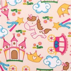 unicorn fairy tale fabric Fantasy World Unicorn Fantasy