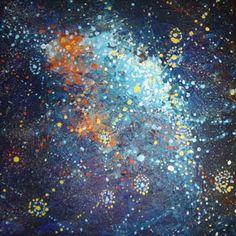 Alma Nungarrayi Granites  Yanjirlpirri or Napaljarri-warnu Jukurrpa (Star or Seven Sisters Dreaming  2012  synthetic polymer paint on canvas  30 x 30 cm  $250 AUD