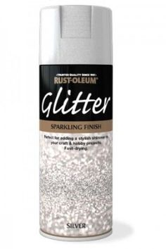 Rust-Oleum Glitter Spray Paint – Silver by Rustoleum Glitter Bedroom, Glitter Paint For Walls, Glitter Spray Paint, Silver Spray, Rust Oleum Glitter, Glitter Grout, Spray Painting, Diy Furniture, Paint Colors