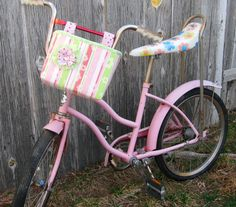 Shabby Chic Bicycle Basket Cottage Bike Basket by RestylingThePast, $35.00