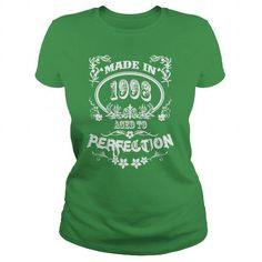 Made In 1998 Aged To Perfection T Shirts, Hoodies. Check Price ==► https://www.sunfrog.com/Names/Made-In-1998-Aged-To-Perfection-Green-Ladies.html?41382
