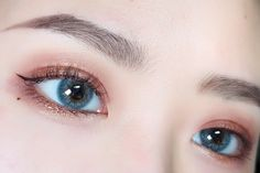 Best Color Contacts from OKJOO.COM-Worldwide FREE Shipping Eye Lens Colour, Color Lenses, Korean Eye Makeup, Asian Makeup, Chanel Lip, Color Contacts, Coloured Contact Lenses, Eye Close Up, Ulzzang Makeup
