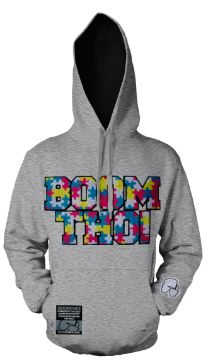 BOOMTHO! Chenille Patch Hoodie