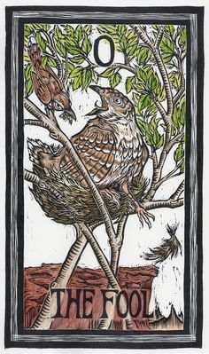 Emi Brady is raising funds for The Brady Tarot: Natural History Meets The Esoteric on Kickstarter! A lush Tarot deck with birds and other flora and fauna of North America, illustrated with hand-colored linocuts. Major Arcana Cards, Tarot Major Arcana, Tarot The Fool, Nature Witch, Oracle Tarot, Tarot Card Meanings, Cartomancy, Tarot Decks, Bird Art