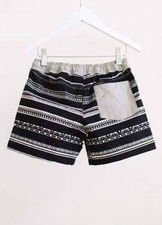 Beach Shorts Maroc Stripe Black - Alpha Kids