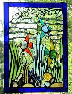 Tiffany-AS-Design: Fensterbild - Seewiese-
